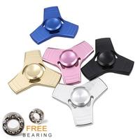 5 Kleuren EDC Fidget Spinner UFO Tri-spinner Zink Hand Spinner Aluminiumlegering Fidget Speelgoed Angst Stress Volwassenen Kid metalen Spinner