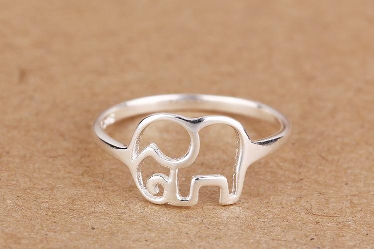 Sterling Silver Elephant Rings For Women