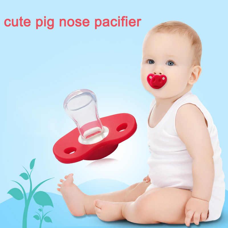 Забавный Милый свиной нос детская соска Пищевой Силикагель Тип большого пальца Прорезыватель Соска уход за ребенком аксессуары для малышей