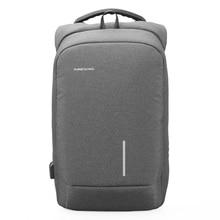 ФОТО kingsons brand men backpack anti-theft usb charge port for laptop backpack school backpack back pack bag
