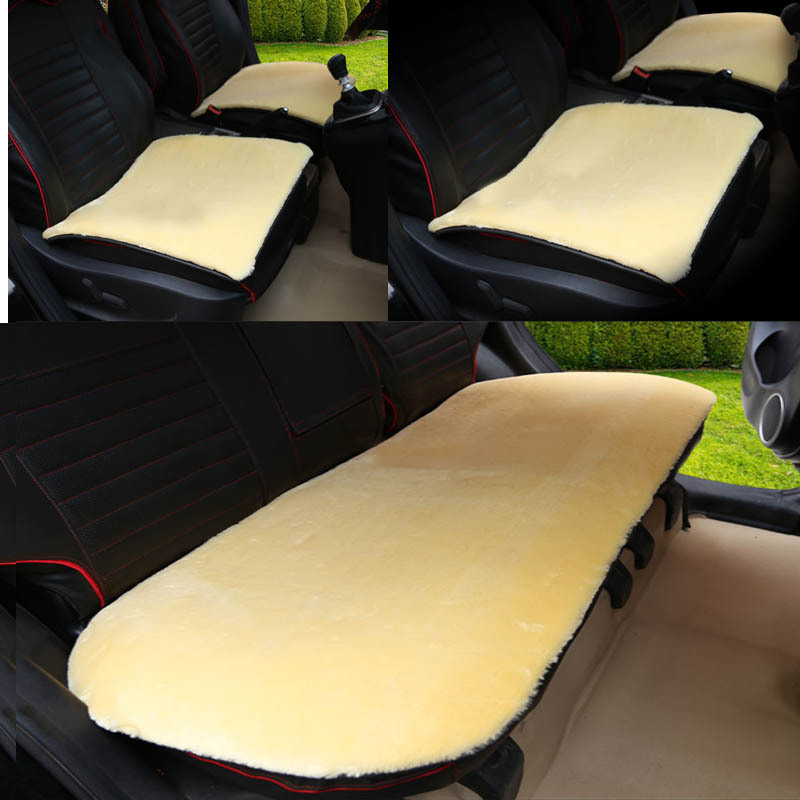 Winter Short Plush Car Seat Protector Mats Artificial Wool Front Back Rear Fur Seats Covers Universal Size Auto Interior Cushion 11 pc charcoal scottsdale seat covers front rear l cargo rubber mats universal
