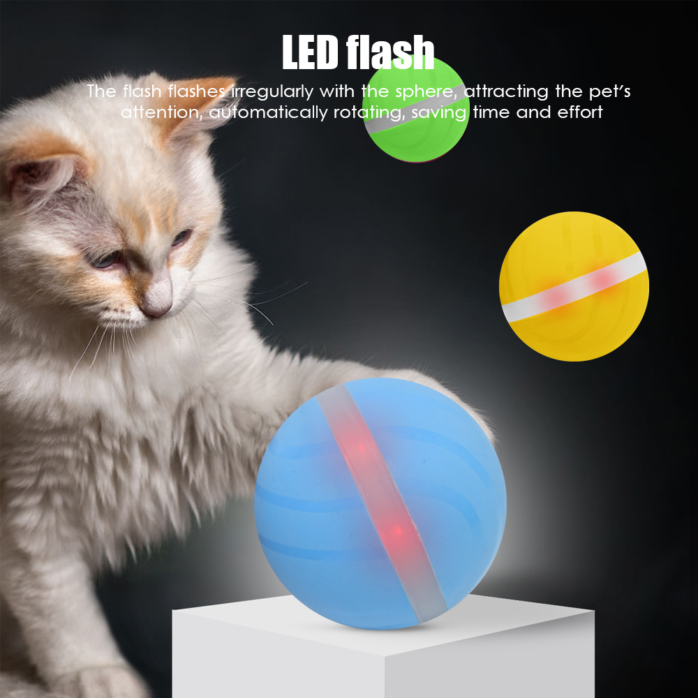 2019 NEW Pet Toy Ball USB Charging LED Cat Interactive Laser Red Light Electric Rolling Ball Funny for Pet Cat Dog Toys