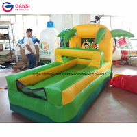 2.5*1.5*2m funny inflatable basketball game for indoor PVC high quality animal design shoot game equipment for kids