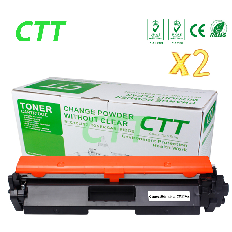 2PCS CF230A CF230 CF 230A compatible toner cartridge for HP LaserJet M203d M203dn M203dw MFP M227fdn M227fdw 1600pages NO CHIP 2x compatible hp cf230a cf230 230a toner cartridge for hp laserjet m203d m203dn m203dw mfp m227fdn m227fdw no chip