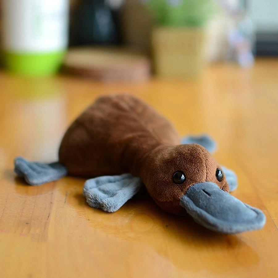 Mini Doll Plush Animals Stuffed Toys Simulation Platypus Animal Brinquedo Menino Halloween Decoration Toys For Children 60A0722 super cute plush toy dog doll as a christmas gift for children s home decoration 20