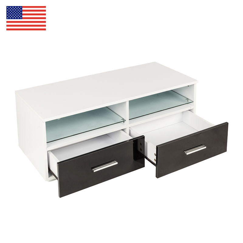 TV Stand table Household Decoration LED TV Cabinet with Two Black Drawers fashion Living Room Furniture