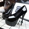 Simple ultra fine high heels waterproof paint Asakuchi sexy nightclub peep toes women shoes