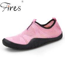 Incendios Mujeres Zapatos Deportivos Zapatillas de deporte de verano caliente Par Zapatos de agua cómodos Unisex Zapatos de natación con luz suave Zapatos de aguamarina