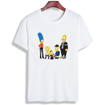 Fashion Short Sleeve T Shirt Funny Simpson - 100% Cotton Top Tees