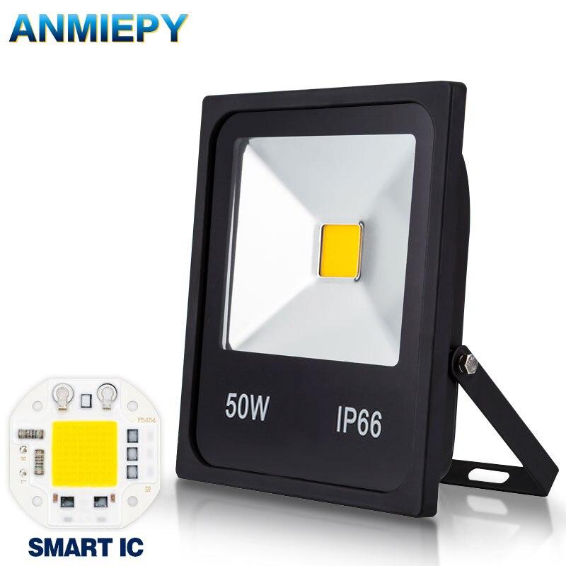 Chip de Reflector de luz LED impermeable IP66 IP6510W 20W 30W 50W lámpara Reflector inteligente IC 220V Led punto Exterior luz al aire libre