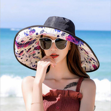 SUOGRY Newest Foldable Big Brim Sun Hats For Wwomen Brand Fashion Summer Hat Spring Outdoor Ladies Caps Casual Beach