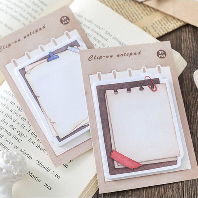 Japanese Vintage Clipboard Shape Memo Pad Creative Stationery Kawaii Planner Stickers Post It To Do List Office School Supplies in Memo Pads from Office School Supplies