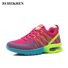 Woman casual shoes Breathable 2018 Sneakers Women New Arrivals Fashion mesh sneakers shoes Air cushion damping