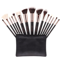 15pcs Makeup Brush Set High Quality Soft Synthetic Hair And Nature Professional Makeup Artist Brush Tool