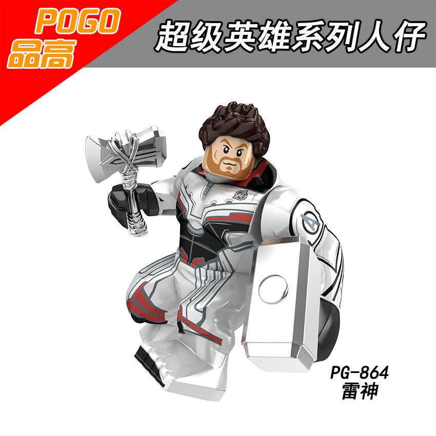 Legoing الأعجوبة المنتقمون الرجل الحديدي ثور الهيكل ثانوس Antman سوبر أبطال أرقام ألعاب مكعبات البناء للأطفال أعجوبة خارقة