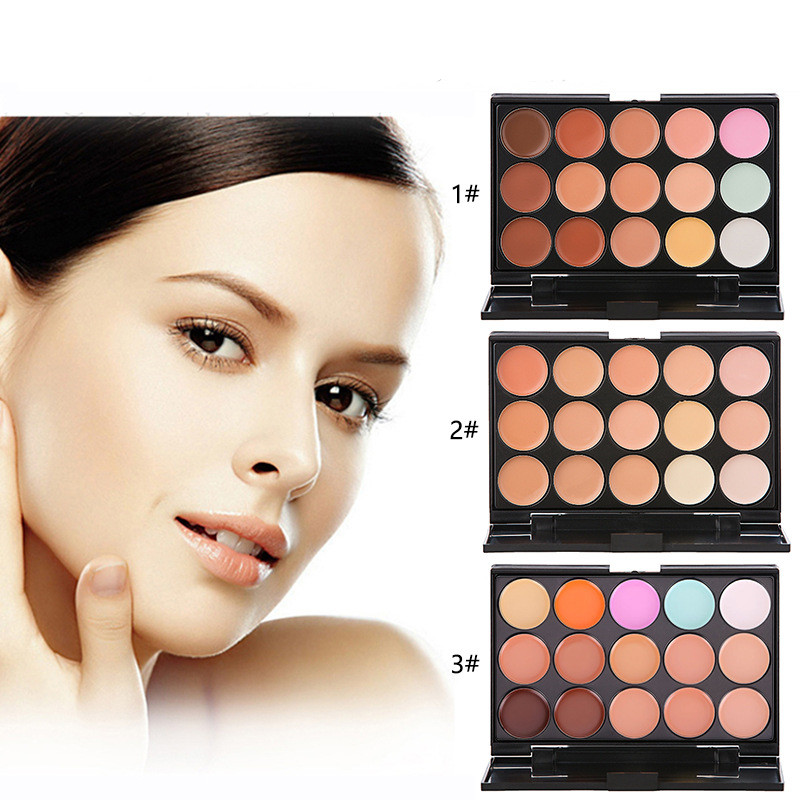 15 Color Concealer Palette Combination Professional Profile Palette Makeup Cream Concealer Palette powder Cosmetics Makeup Set