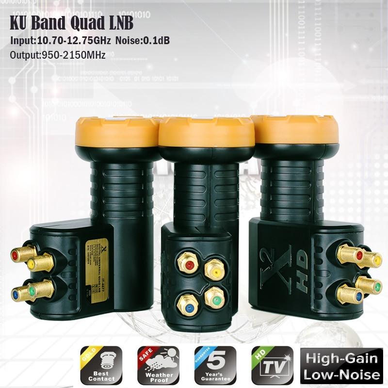 Original x2 lnb ku banda universal lnb para receptor de satélite hd digital lnb ruído 0.1 db alto ganho polarização linear lnbf