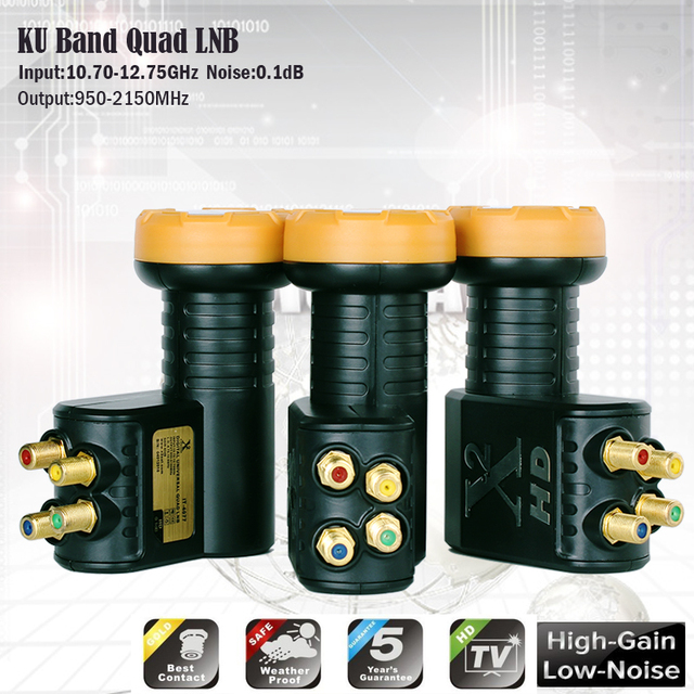 Originele X2 LNB KU Band Universele LNB Voor Satelliet ontvanger HD Digitale LNB Noise 0.1 dB High Gain Lineaire Polarisatie LNBF