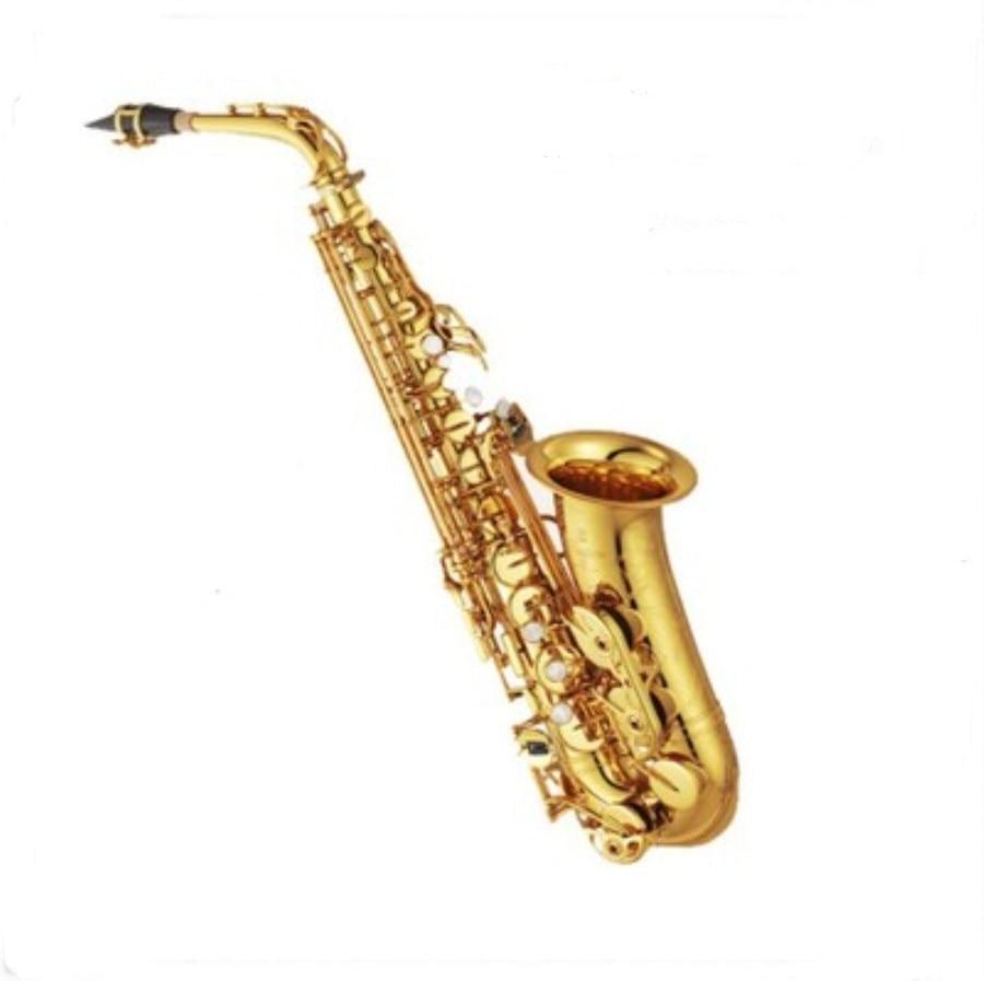 High quality alto saxophone Gold Lacquer E flat alto saxophone Top Music professional grade Performing alto saxophone shipping yas 82z saxophone e flat alto saxophone top music high quality sax electrophoresis gold dhl ups shipping