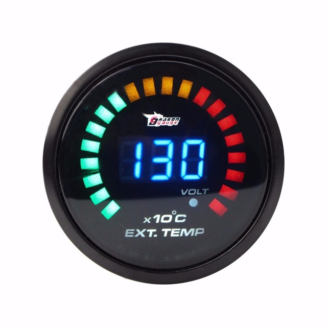 "2"" 52MM Digital 20 LED EGT Exhaust Gas Temp Gauge Auto Car Styling EGT Temperature Gauge/Exhaust meter With sensor YC100100"