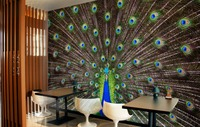 [Self Adhesive] 3D Beautiful Peacock 041 Wall Paper mural Wall Print Decal Wall Murals