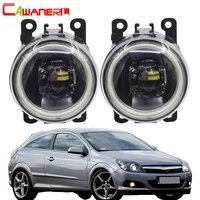 Cawanerl 2 Pieces Car 4000LM LED Bulb H11 Fog Light Angel Eye Daytime Running Light DRL 12V For Opel Corsa D Hatchback 2007 2015
