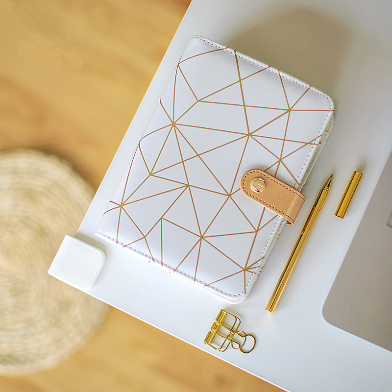 Jamie Notes Creative Leather Cover Spiral Notebook A6 Planner Organizer Agenda Trend Stationery Set Gift Packing School Supplies never sweet pink diary a6 spiral notebook agenda 2018 personal weekly planner chancellory school supplies korean gift stationery