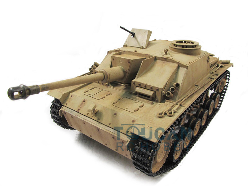 100% Metal Mato 1/16 Stug III RTR RC Tank Infrared Barrel Recoil Yellow 1226 mato sherman tracks 1 16 1 16 t74 metal tracks