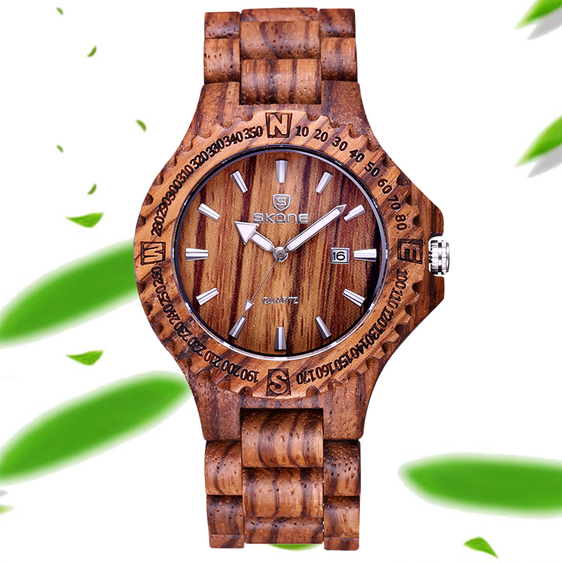 2018 Auto Date Maple Bamboo Sanders Wood Watches Men Women Fashion Retro Wooden Quartz Couples Lovers' Watch Time Hour Relojes