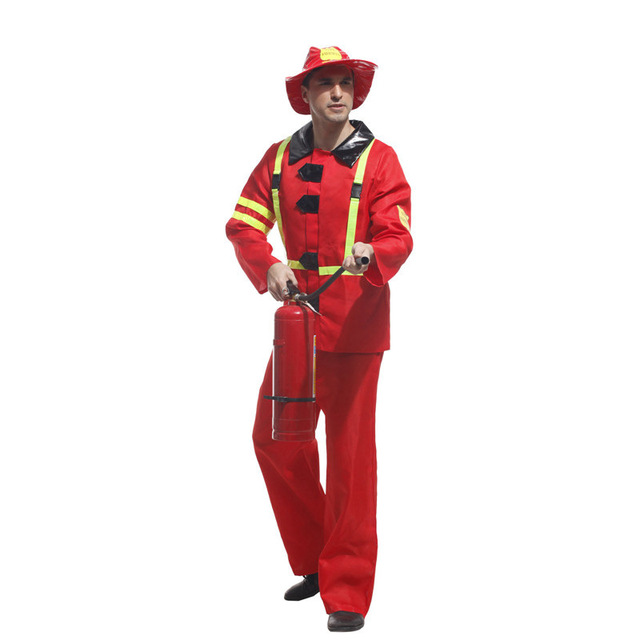 45392dd0e52132 Freies verschiffen karneval halloween cosplay kostüm Männer feuerwehr  Kostüme Feuerwehrleute Cosplay kostüme Erwachsene spiel uniformen