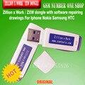 100% original Zillion x Trabalho/ZXW dongle com desenhos de software de reparação Para O Iphone Nokia Samsung HTC
