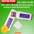 100% original Zillion x Work / ZXW dongle with software repairing drawings For Iphone Nokia Samsung HTC