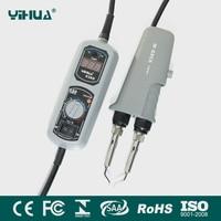 110V 220V EU US GB AU PLUG YIHUA 938D Portable Hot Tweezers Mini Soldering Station Hot