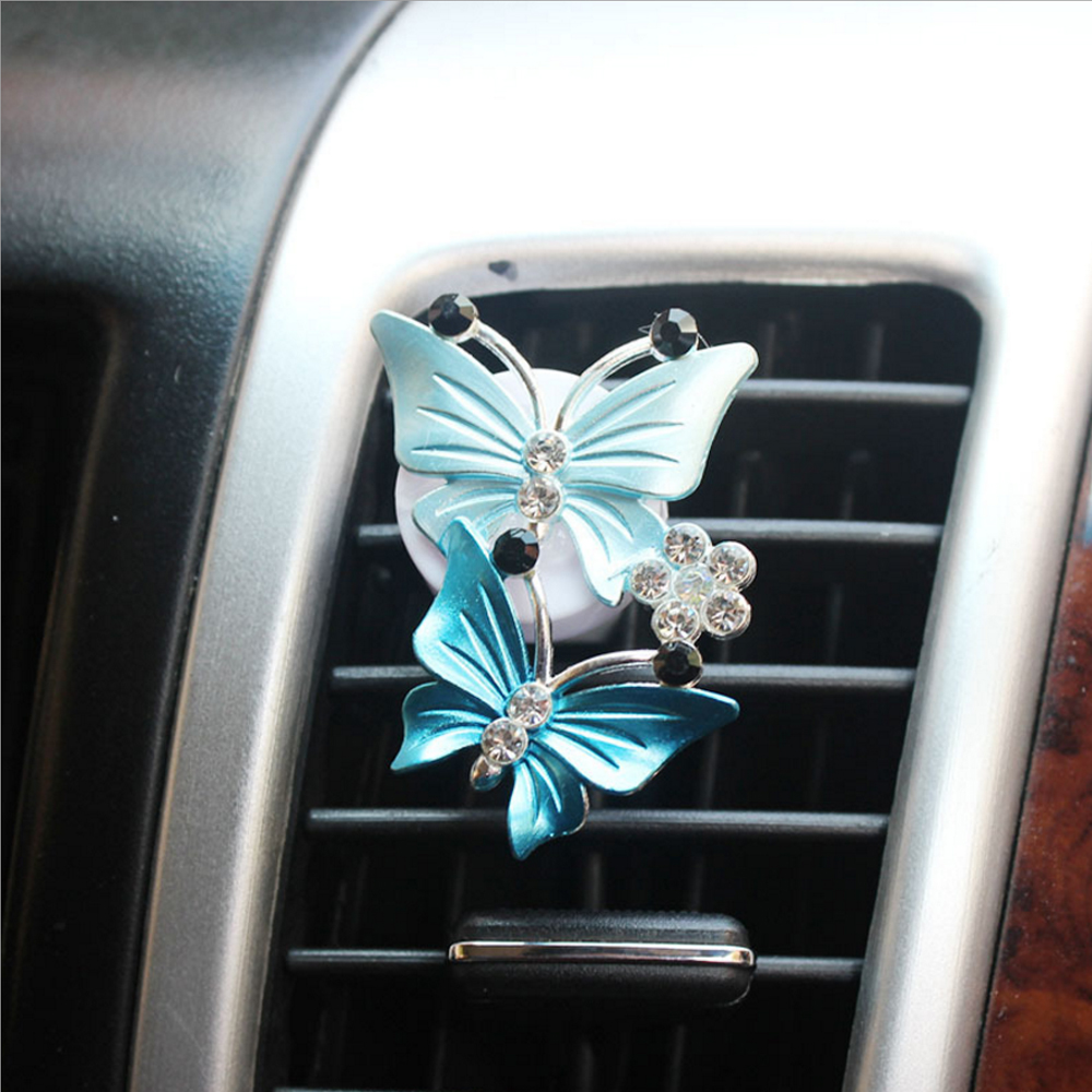 Air Freshener Fragrance Butterfly Air Conditioner Outlet Clip Car Perfume Auto Accessories Natural Smell Decoration Car-styling