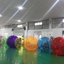 Красочный надувной водный шар Зорб для игр в бассейне 1,5 м/2 м диаметр прозрачный надувной шар для ходьбы по воде гигантский шар гамбер дешево