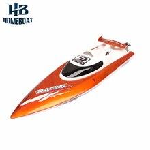 Горячие Продажи FT009 2.4 Г Brushless Remote Control Скорость Гоночная Лодка 30 КМ/Ч Высокая Скорость RC Лодки Игрушки мини подводная лодка продажа