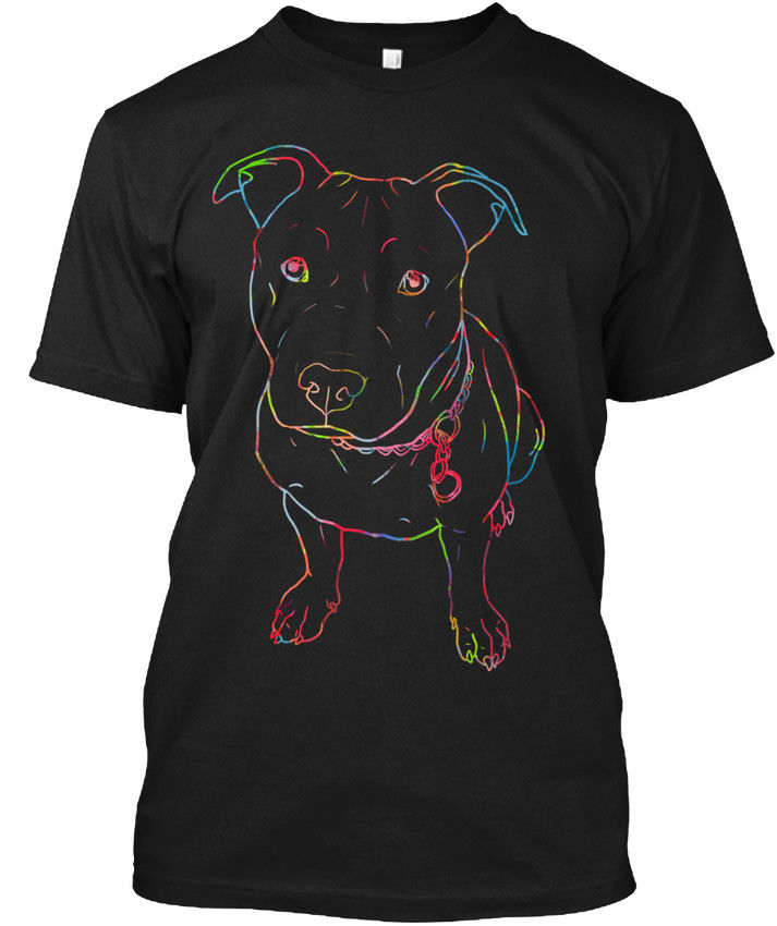 Неон светящийся питбуль подарок Популярные Tagless футболка