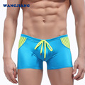 Fashion Swimsuit Men  Trunk Swimwear Transparent Sexy Striped Mesh Patchwork Man Board Bathing Suits Boxer Shorts Beach New Wear