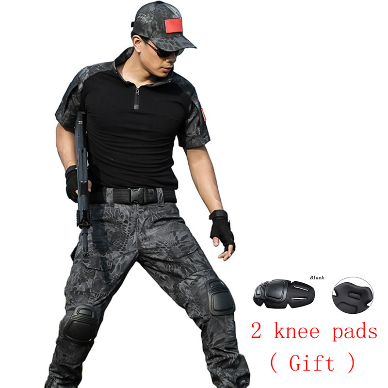 ФОТО Tactical military uniform clothing army of the military combat uniform tactical pants with knee pads camouflage hunting clothes
