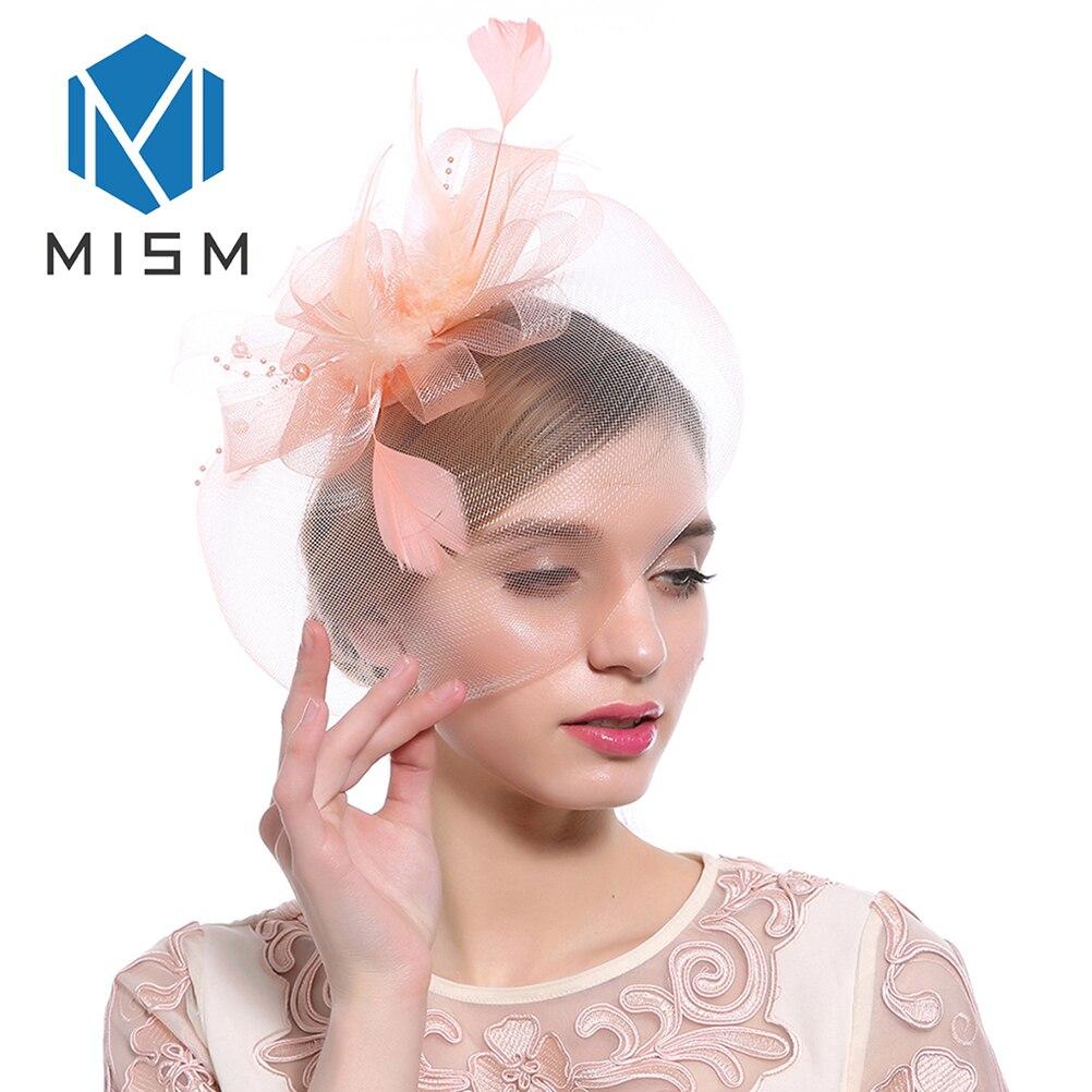 M MISM Dell annata Dei Capelli di Fascinator Pinze Del Fiore di Fantasia  Elegante Delle fcf81f31b56b