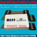 2016 caja de riff riff box jtag 2-mejor para htc, samsung, huawei desbloqueo de flash & repair con 3 unids plana cables