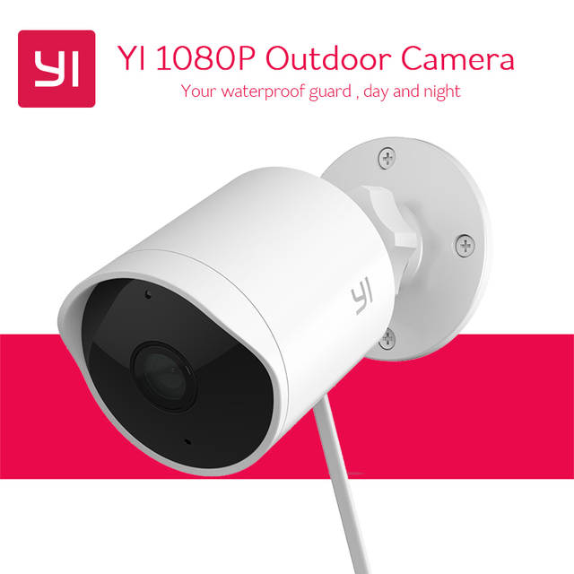 YI Outdoor Camera Cloud IP Cam Bullet Camera 1080P HD Waterproof IR Night  Vision Security Surveillance System Deterrent Alarm