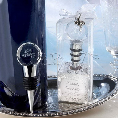 Free Shipping Cinderella Theme Crystal Carriage Bottle Stopper In Gift Box Wedding Favor Wine