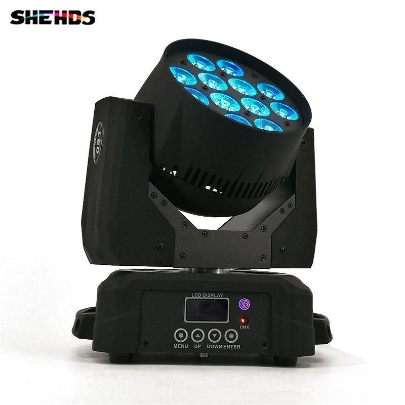 Led Wash Moving Head Lighting 12x12W RGBW 4 in 1 Disco Light DJ DMX Lamp Professional Stage Equipment For Indoor Club Party Show