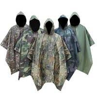 Impermeable de camuflaje militar Impermeable para hombre toldo para mujer de la lluvia poncho lluvia motocicleta