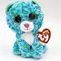 Оригинальные Ty Beanie Боос Большие Глаза Плюшевые Игрушки Куклы Красочные Зеленый Леопард Baby Дети Подарок 10-15 см