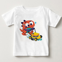 baby boy t-shirt big boys tees t shirts children blouse t-shirts cars dinosaur kids summer clothes 3T--8T Lovely shirt