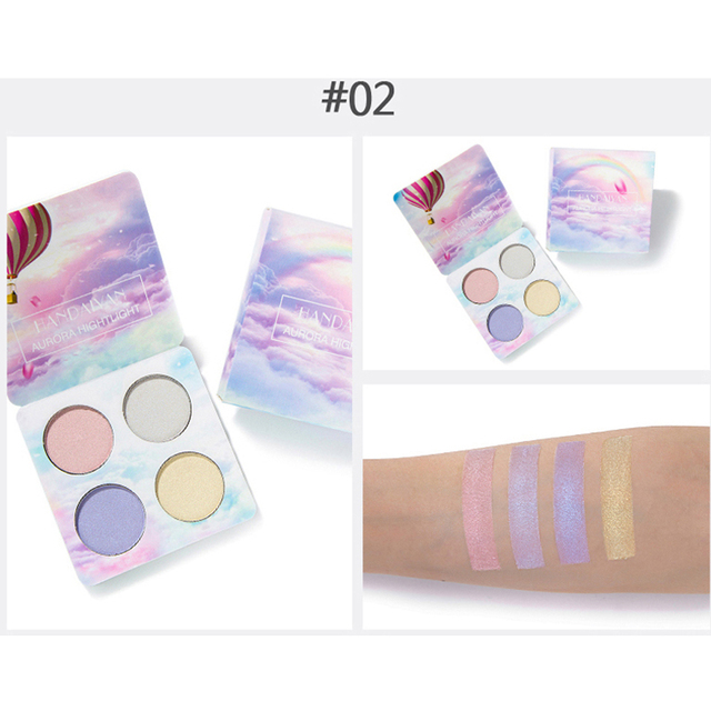 4 Colors Luminous/Chameleon Eyeshadow Palette