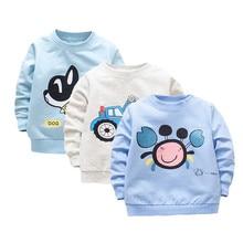 Футболка для маленьких мальчиков повседневные хлопковые топы с длинными рукавами для маленьких мальчиков, рубашка для новорожденных весенне-осенняя футболка одежда для маленьких мальчиков на первый день рождения