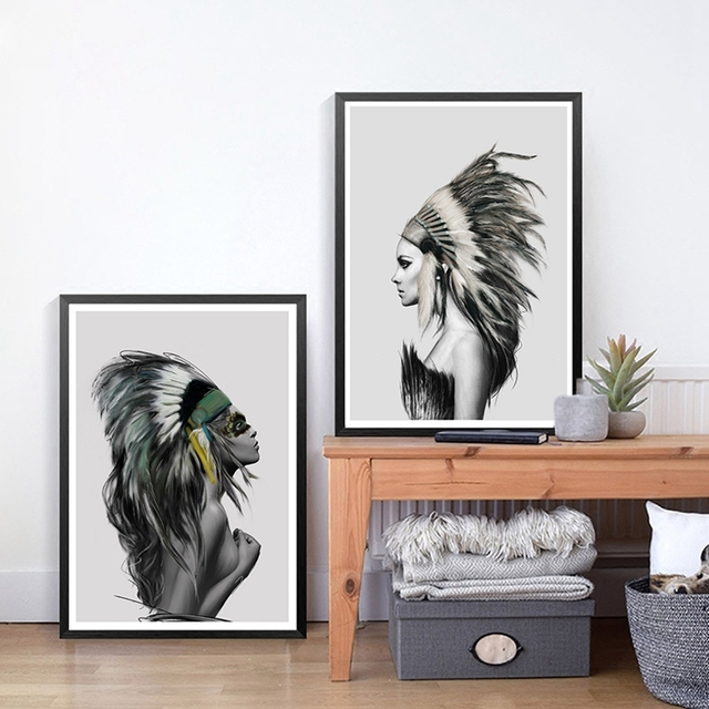 Native american wall art home decor